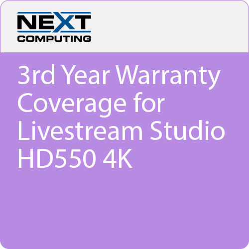 NextComputing 3rd Year Extended Warranty Coverage for Livestream Studio HD550 4K (Download)