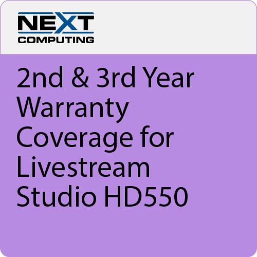 NextComputing 2nd & 3rd Year Warranty Coverage for Livestream Studio HD550