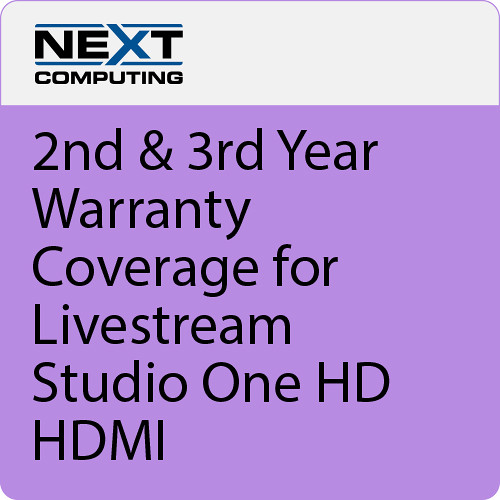 NextComputing 2nd & 3rd Year Warranty Coverage for Livestream Studio One HD HDMI