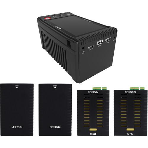 NEXTO DI NEXTO DI Storage Bridge NSB-25 Modular Memory Card Backup Kit with SxS & CFast Media
