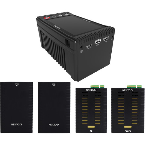 NEXTO DI NEXTO DI Storage Bridge NSB-25 Modular Memory Card Backup Kit with SxS & P2 Media