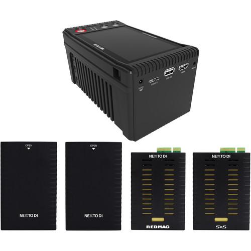 NEXTO DI NEXTO DI Storage Bridge NSB-25 Modular Memory Card Backup Kit with SxS & REDMAG Media