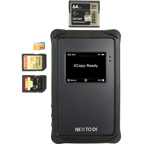 NEXTO DI Portable All In 1 Backup Storage(No SSD Drive)CFast,MicroSD/2-SD Slots/AC Power Adapter/USB-C Cable