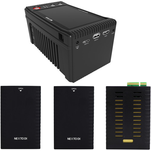 NEXTO DI Storage Bridge NSB-25 Modular Memory Card Backup System with 2 x Bridge Pellets & AJA QUAD Memory Module