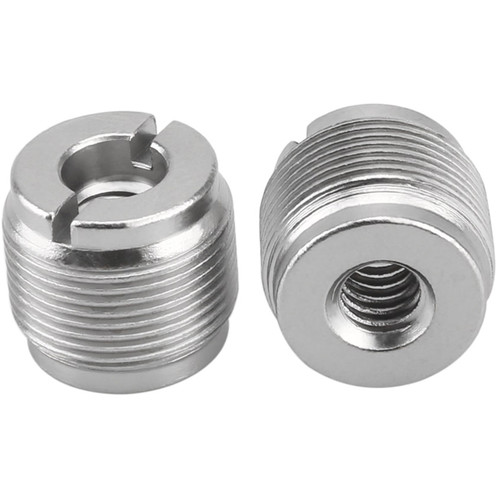 """Niceyrig 5/8"""" Male to 1/4"""" Female Microphone Screw Thread Adapter (Pack of 2)"""