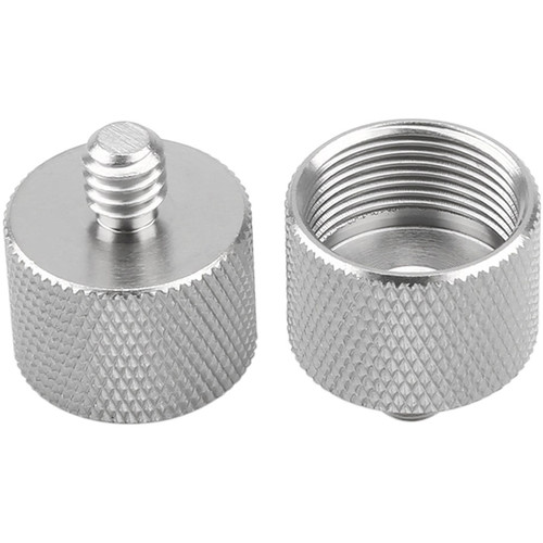 """Niceyrig 1/4"""" Male to 5/8"""" Female Microphone Screw Thread Adapter (Pack of 2)"""