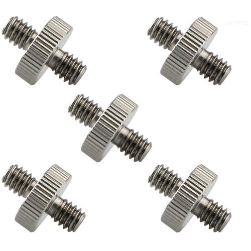 "Niceyrig Standard 1/4""-20 Male to 1/4""-20 Male Screws for Camera/Tripod/Monopod/Ballhead/Light (Pack of 5)"