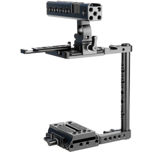Niceyrig Adjustable Camera Half Cage Quick Release Kit with Top Handle