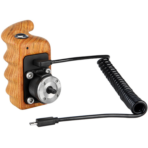 Niceyrig Right Side Wooden Hand Grip with Record Start/Stop Remote Trigger