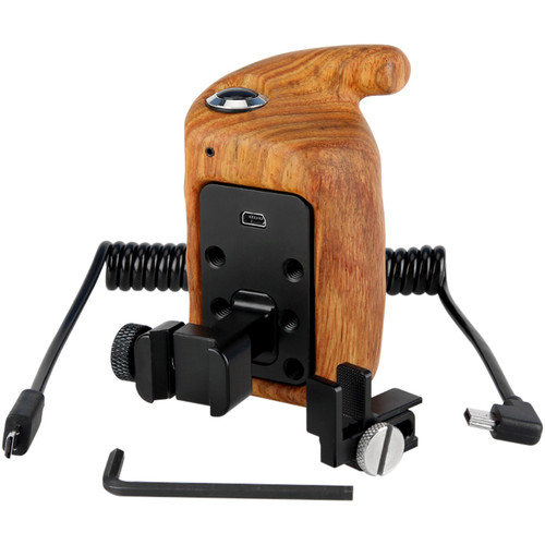 Niceyrig Nato Side Wooden Hand Grip with Record Start/Stop Remote Trigger (Right)