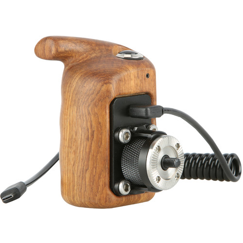 Niceyrig Left-Side Wooden Handgrip with Record Start/Stop Remote Trigger