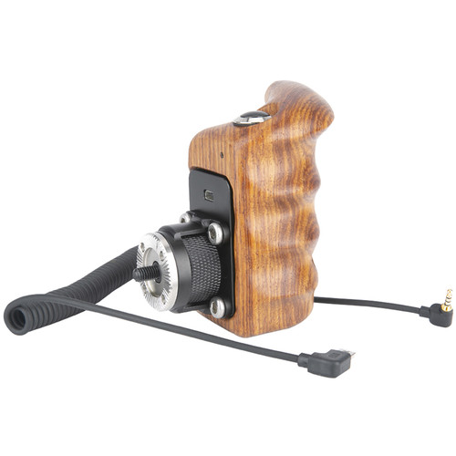 Niceyrig Left Side Wooden Handle Grip with Control Button Switch for Select Panasonic Lumix Camera