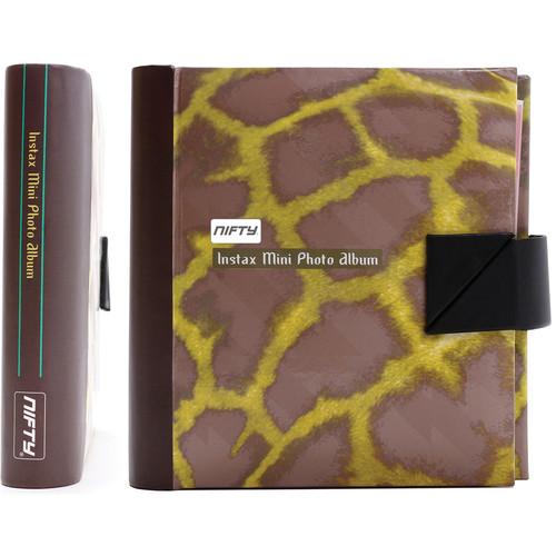 Nifty Instax Mini and Polaroid 300 Photo Album (Copper and Yellow Giraffe)