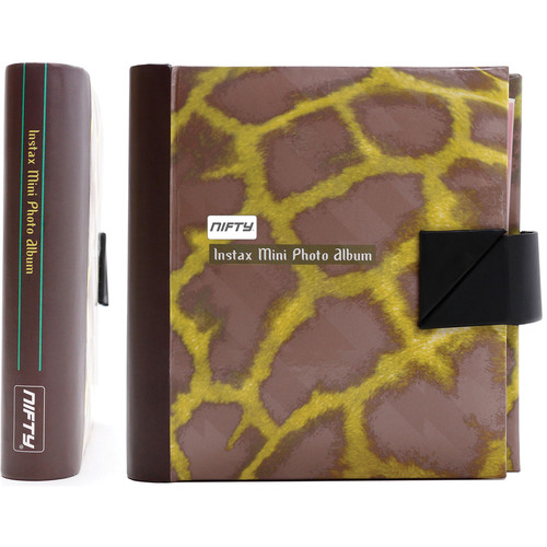 Nifty Instax Mini and Polaroid 300 Photo Album (Copper and Yellow Giraffe)