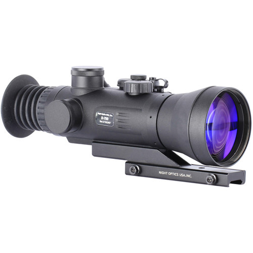 Night Optics Marauder 750 4x 3rd Generation White Phosphor Night Vision Riflescope (Autogated, Red-Green Mil-Dot Reticle)
