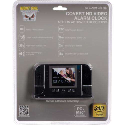Night Owl CS-ALARM-LCD-8GB HD Video Alarm Clock Covert Camera (8 GB)