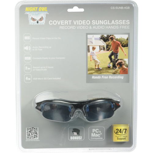 Night Owl Covert Video Sunglasses with a 4 GB microSD Card
