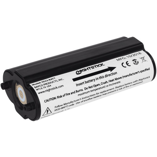 Nightstick Lithium-Ion Rechargeable Battery (3.7V, 2600mA)