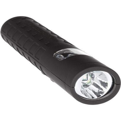 Nightstick NSP-1402B Dual-Switch Dual-Light LED Flashlight (Black, Red Floodlight)
