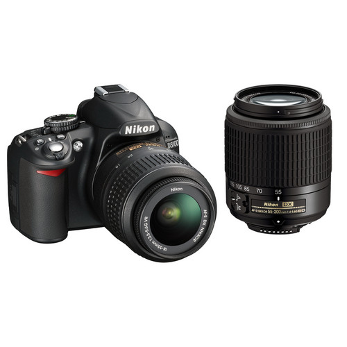 Nikon D3100 DSLR Camera with NIKKOR 18-55mm and 55-200mm DX Lenses