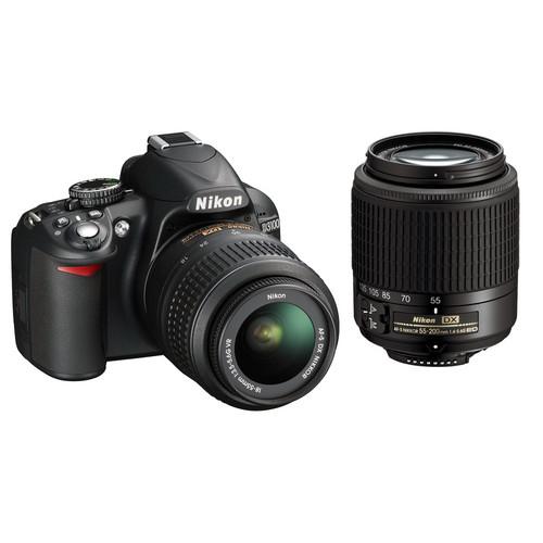 Nikon D3100 DSLR Camera with NIKKOR 18-55mm and 55-200mm DX Lenses