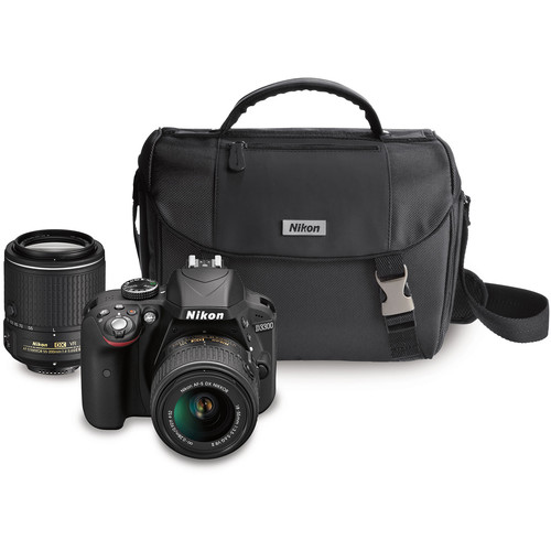 Nikon D3300 DSLR Camera with 18-55mm and 55-200mm Lenses Kit