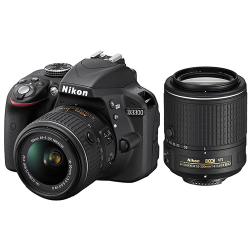 Nikon D3300 DSLR Camera with 18-55mm VR II and 55-200mm VR II Lenses Kit