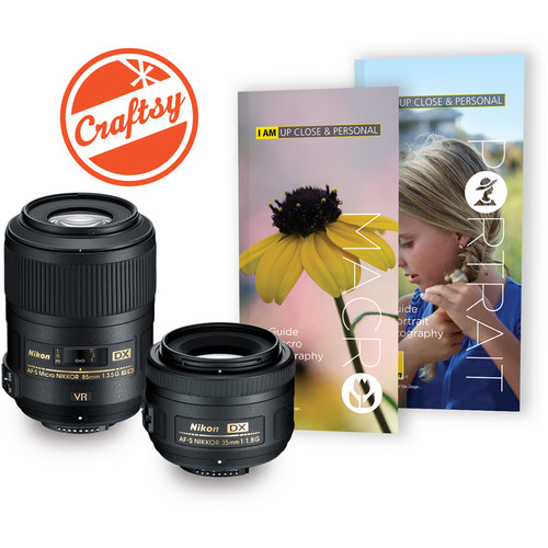 Nikon Macro & Portrait 85mm f/3.5 and 35mm f/1.8 Two Lens Kit