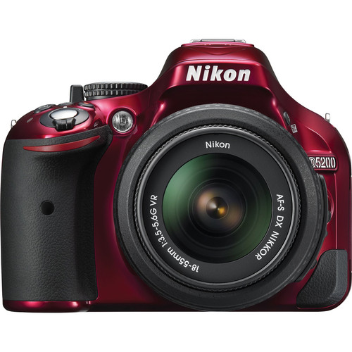 Nikon D5200 DSLR Camera with 18-55mm Lens (Red)