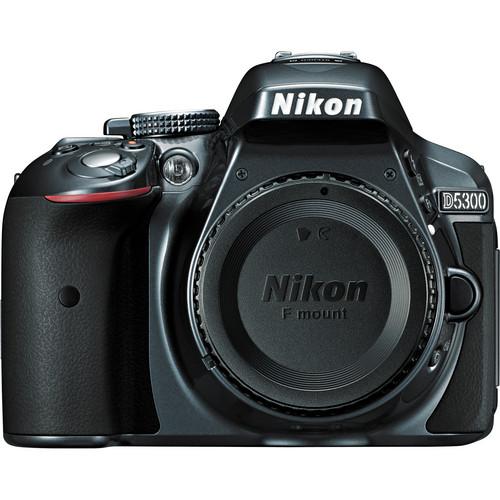 Nikon D5300 DSLR Camera (Body Only, Gray)