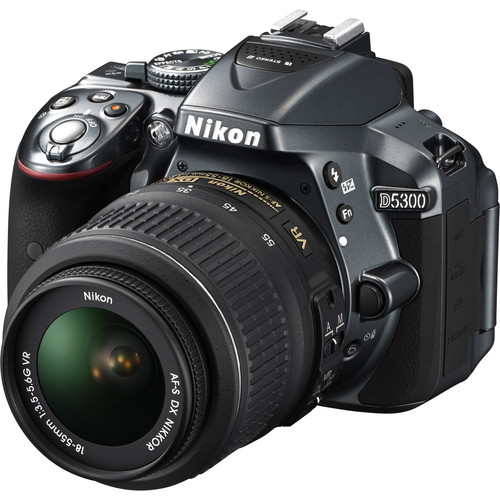 Nikon D5300 DSLR Camera (Body Only, Gray, Refurbished)