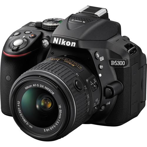 Nikon D5300 DSLR Camera with 18-55mm Lens (Black, Refurbished)