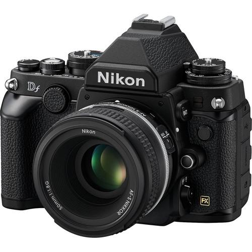 Nikon Df DSLR Camera with 50mm f/1.8 Lens (Black)