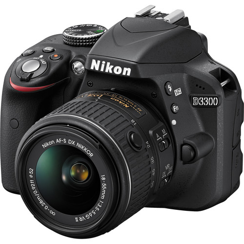 Nikon D3300 DSLR Camera with 18-55mm Lens (Black, Refurbished)