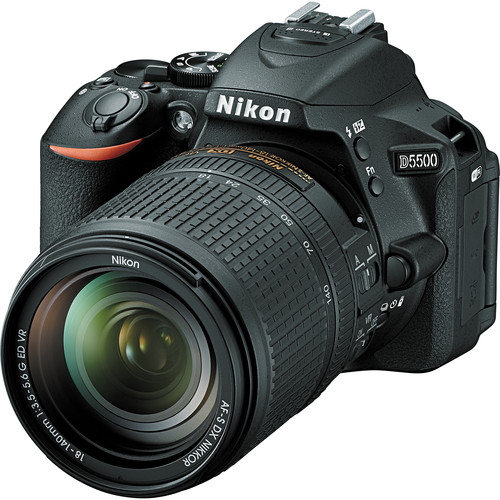 Nikon D5500 DSLR Camera with 18-140mm Lens (Black)