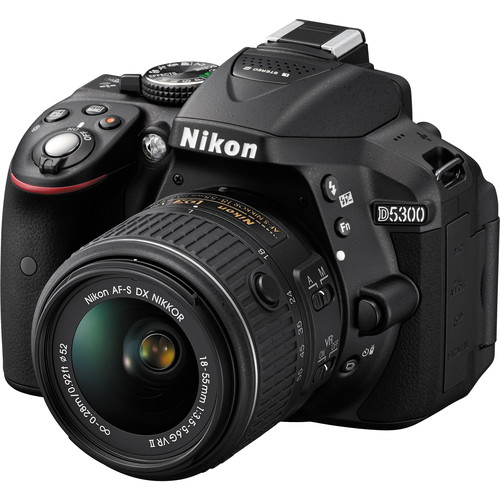 Nikon D5300 DSLR Camera with 18-55mm Lens (Black, Open Box)