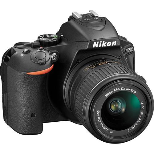 Nikon D5500 DSLR Camera with AF-P 18-55mm Lens (Refurbished, Black)