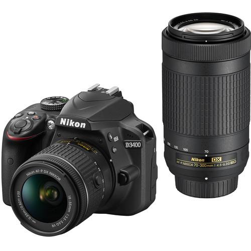 Nikon D3400 24MP DSLR w/ Lens + 16GB SD Card + PaintShop Pro