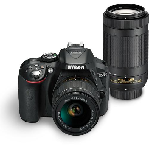 Nikon D5300 DSLR Camera Dual Lens Kit