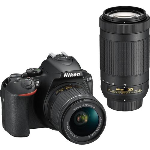 Nikon D5600 DSLR Camera with 18-55mm and 70-300mm Lenses (Refurbished by Nikon USA)