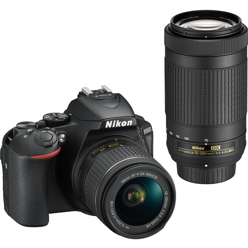 Nikon D5600 DSLR Camera with 18-55mm and 70-300mm Lenses (Refurbished)