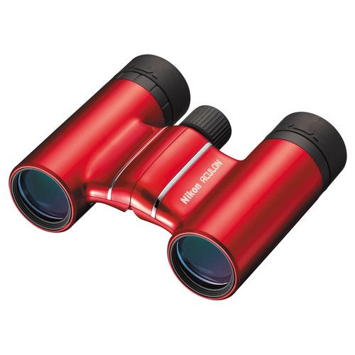 Nikon 8x21 Aculon T01 Binocular (Red, Clamshell Packaging)