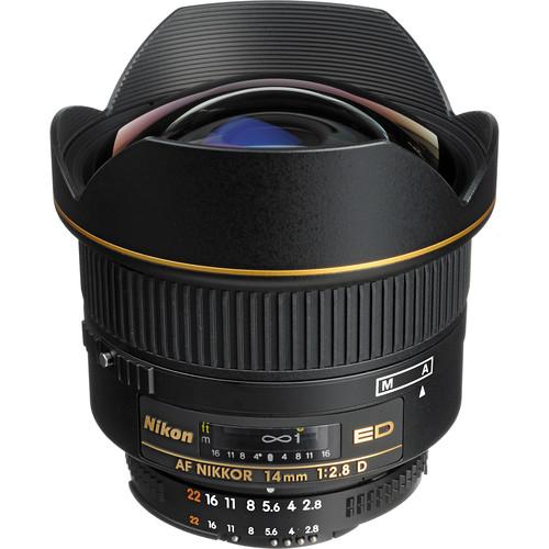 Nikon AF NIKKOR 14mm f/2.8D ED Lens (Open Box)