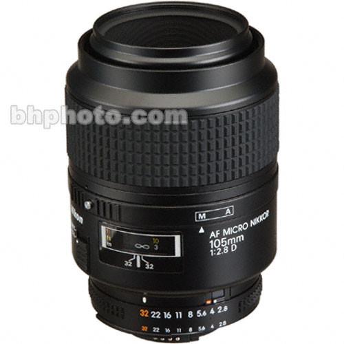 Nikon Telephoto AF Micro Nikkor 105mm f/2.8D Autofocus Lens