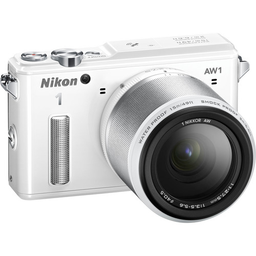 Nikon 1 AW1 Mirrorless Digital Camera Deluxe Accessory Kit with 11-27.5mm Lens (White)