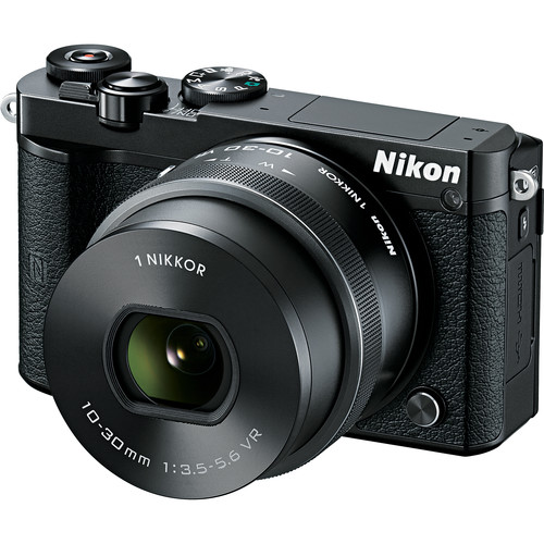 Nikon 1 J5 Mirrorless Digital Camera with 10-30mm Lens and Accessories Kit (Black)