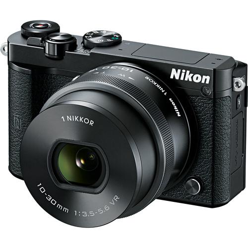 Nikon 1 J5 Mirrorless Digital Camera with 10-30mm Lens Deluxe Kit (Black)