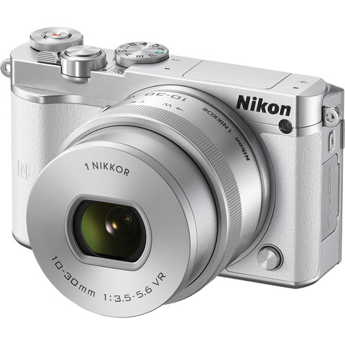Nikon 1 J5 Mirrorless Digital Camera with 10-30mm Lens Deluxe Kit (White)
