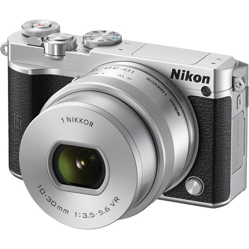 Nikon 1 J5 Mirrorless Digital Camera with 10-30mm Lens Deluxe Kit (Silver)