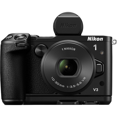 Nikon 1 V3 Mirrorless Digital Camera with 10-30mm Lens Deluxe Kit